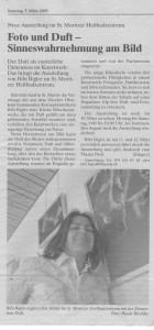 Artikel Engadiner Post, Ausstellung Foto&Duft